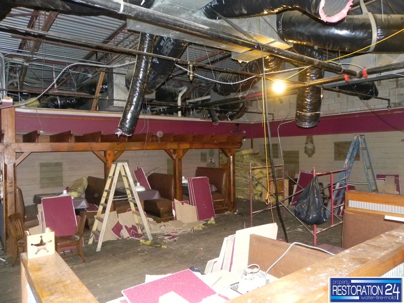 Water Damage in Restaurant Raleigh NC